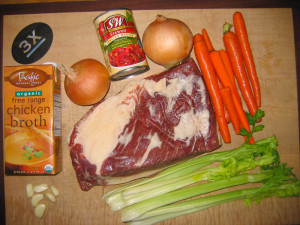 Brisket With Ingredients