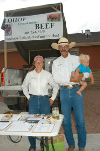 Christy, Patrick, and Cutlar Sell Meat at the Sheridan, WY Farmer's Market